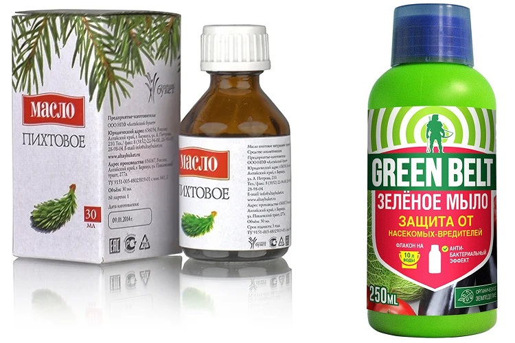 Пихтовое масло и зеленое мыло